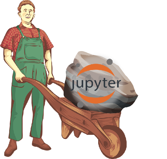 Worker carrying JupyterLab